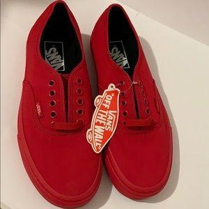 Vans Authentic True Red/Black Skate Shoes